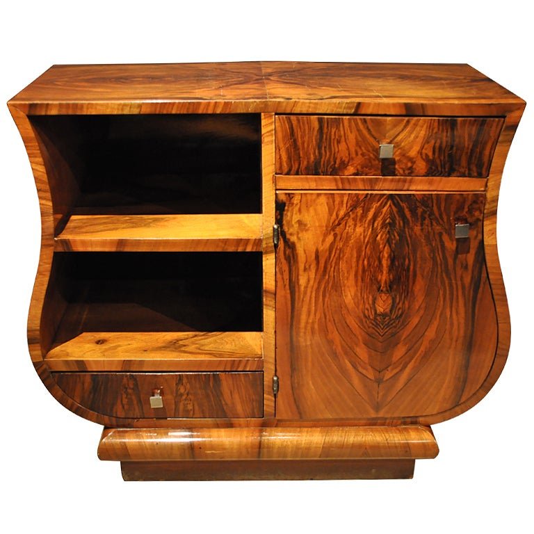 Art deco curved side chest at 1stdibs for Art deco furniture chicago