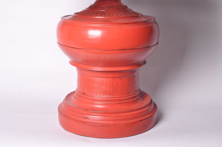 Red Urn Lamps For Sale 2