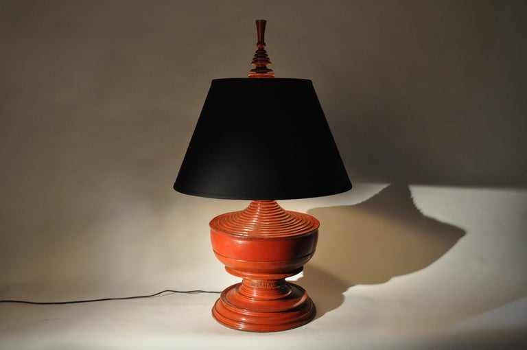 20th Century Red Urn Lamps For Sale