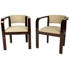 Round Back Chairs with New Upholstery