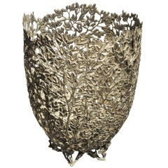 Bright Pewter Basket