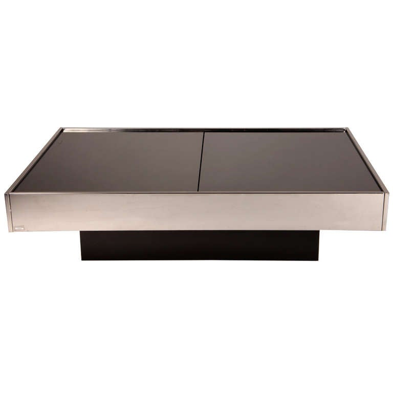 Mini Bar Coffee Table By Willy Rizzo At 1stdibs