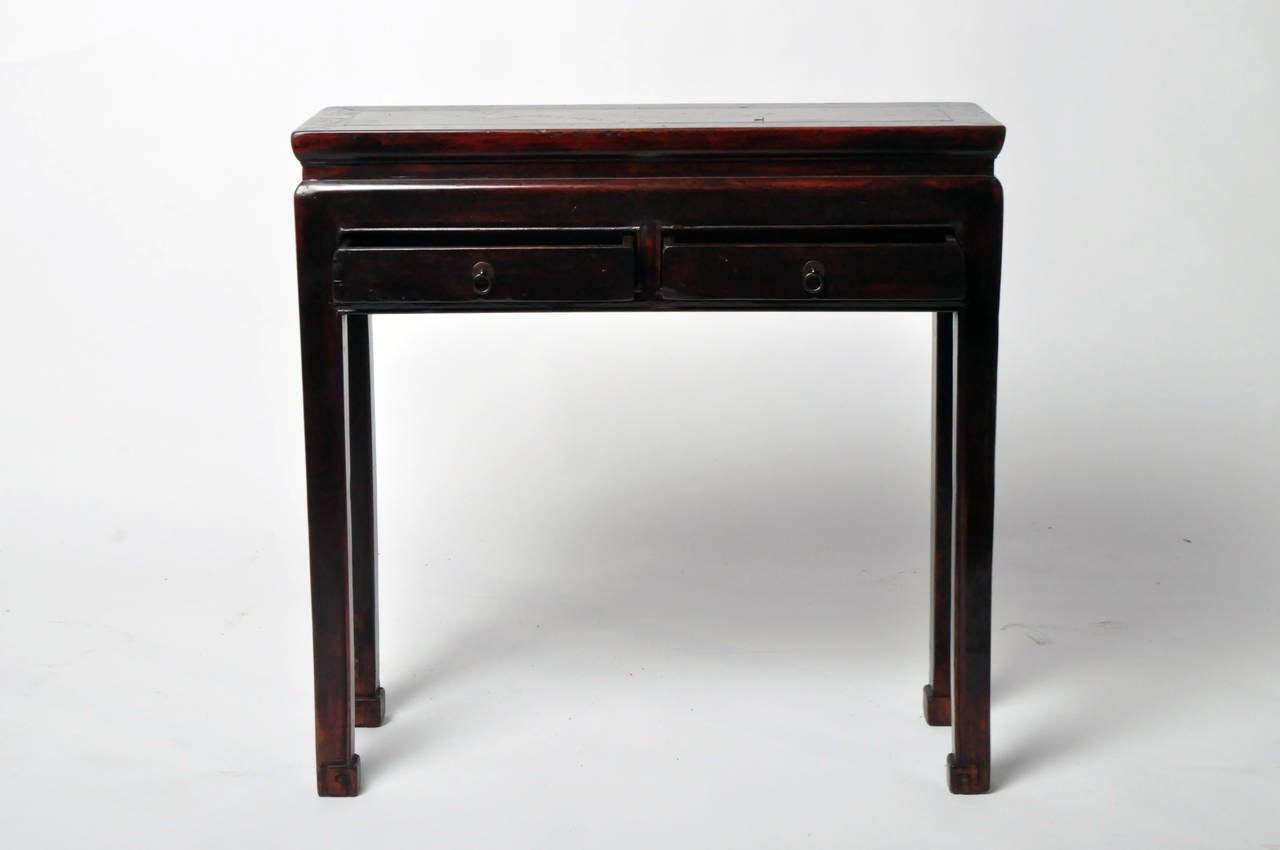 Narrow Console Table With Drawers 19th Century Narrow