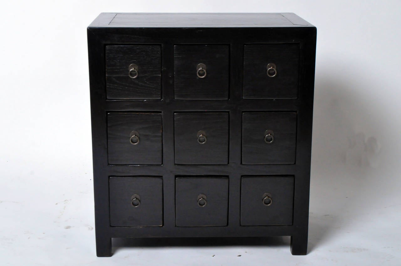 Black Lacquered Apothecary Chests at 1stdibs