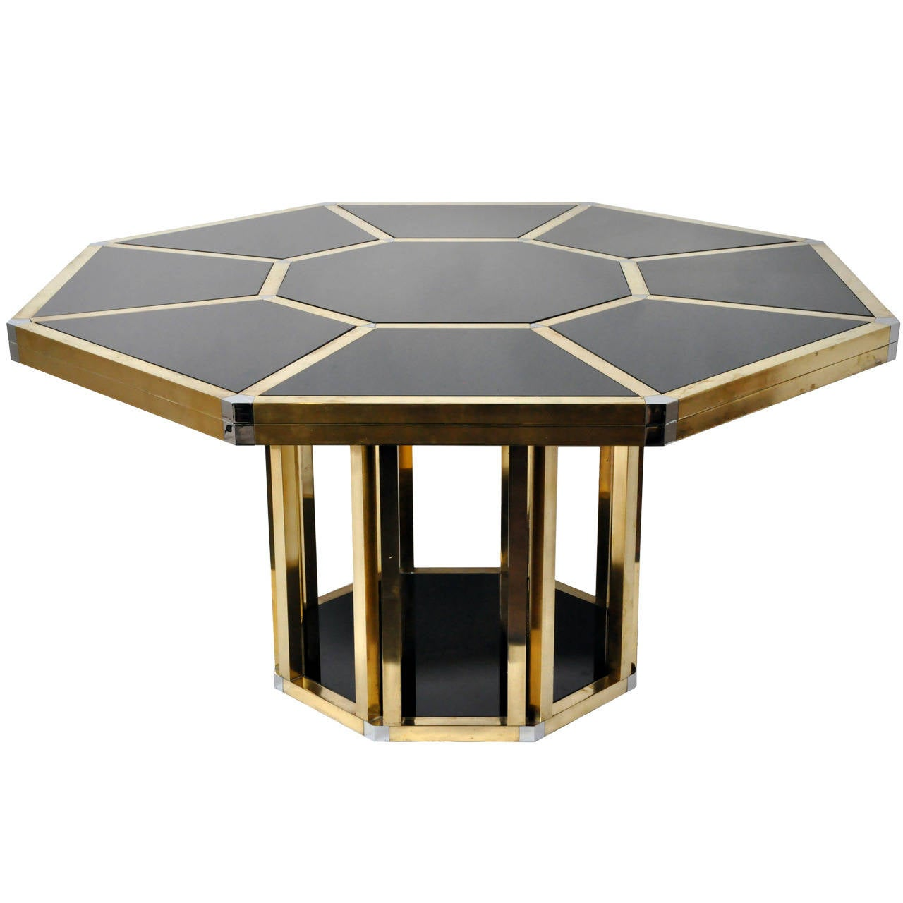 Octagonal table in the style of gabriella crespi at 1stdibs for Furniture centre table