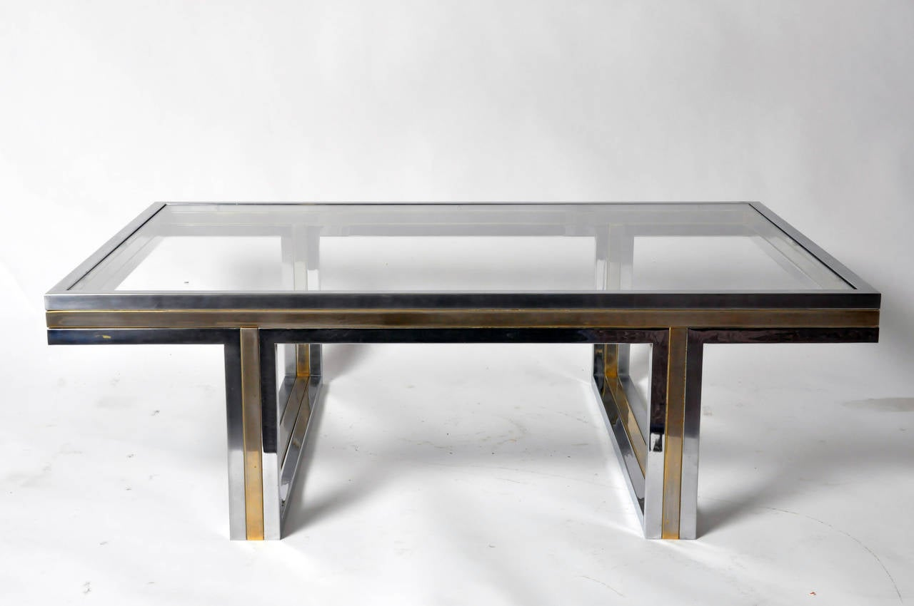 French coffee table with glass top at 1stdibs for French glass coffee table