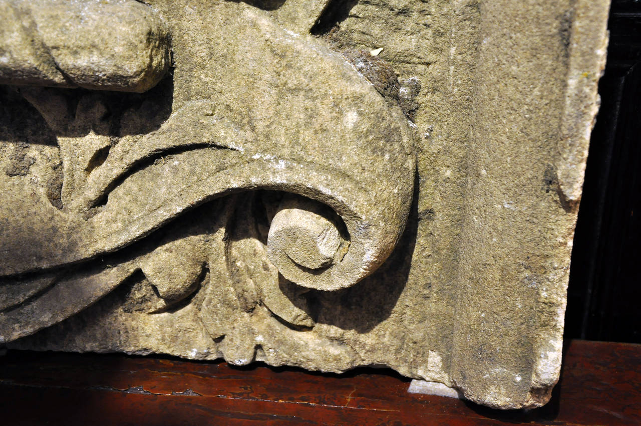 19th Century Limestone Architectural Fragment For Sale 5