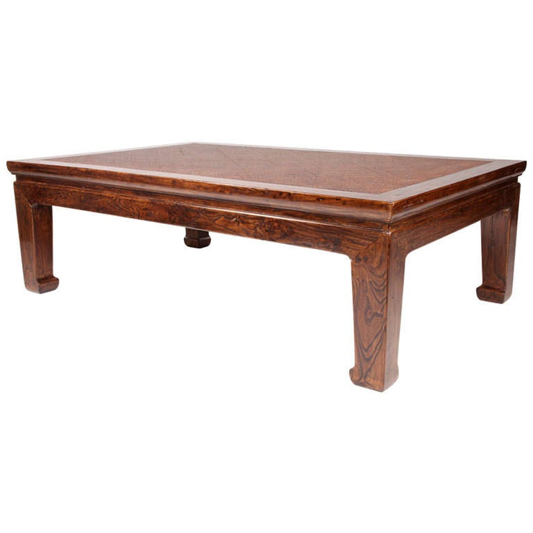19th Century Coffee Table With Cane Top At 1stdibs