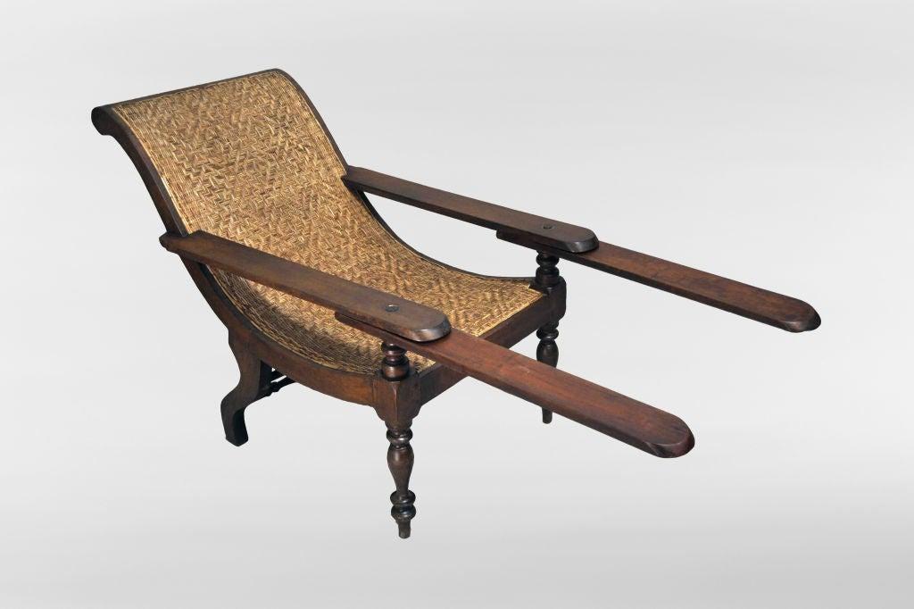 British Colonial Plantation Chair At 1stdibs