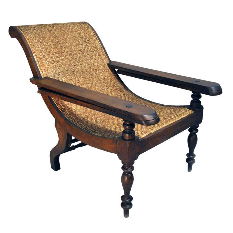 British Colonial Plantation Chair At 1stdibs