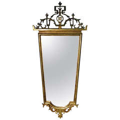 Hungarian Giltwood Mirror in the Style of Lajos Kozma