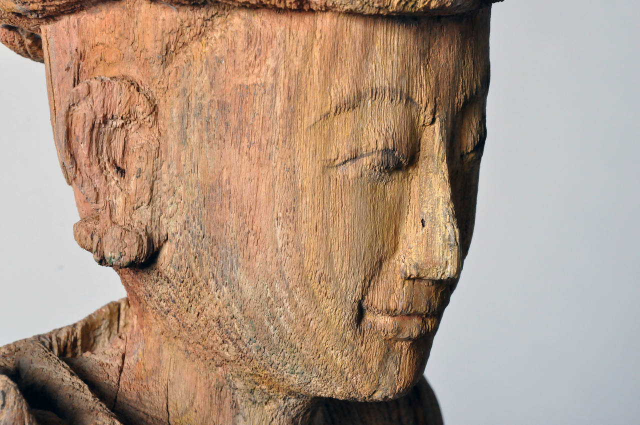 Hand-Carved Sculpture For Sale 1