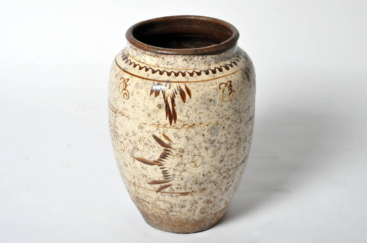 Painted Chinese Ceramic Vase For Sale