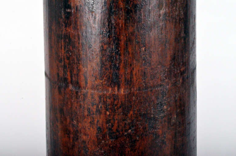 20th Century Carved Teak Wood Coulmn For Sale