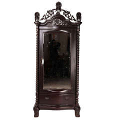 British Colonial Teakwood Armoire