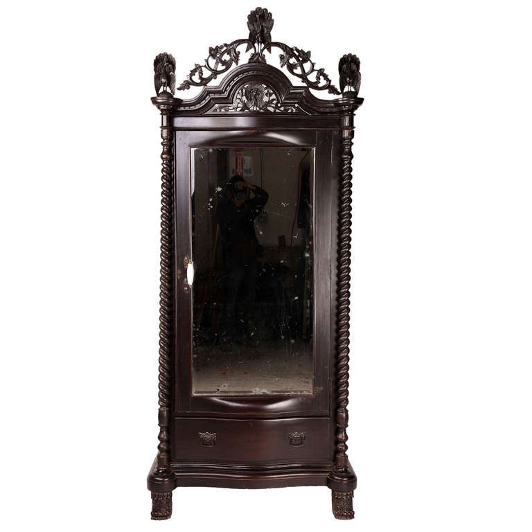 british colonial teak wood armoire for sale at 1stdibs. Black Bedroom Furniture Sets. Home Design Ideas