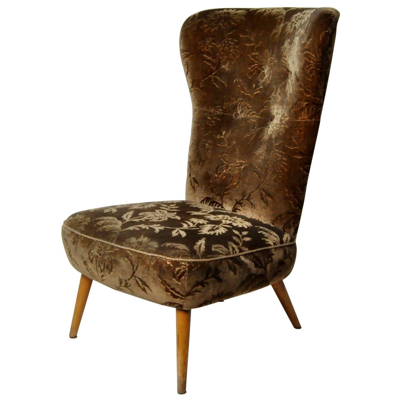 Solid Walnut Tall Back Chair