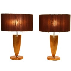 Pair of Hungarian Art Deco Style Table Lamps