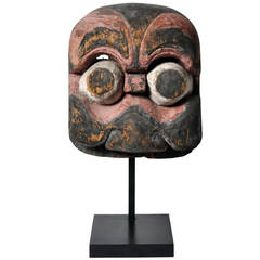 19th Century Carved Temple Mask