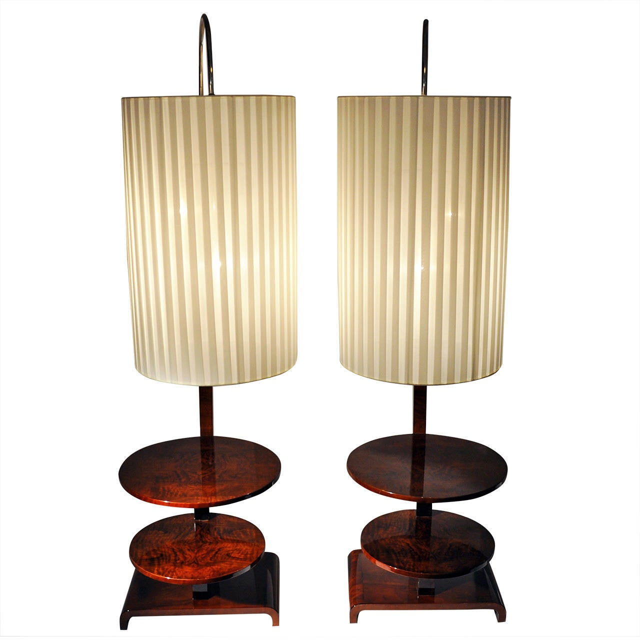 pair of art deco style floor lamps at 1stdibs. Black Bedroom Furniture Sets. Home Design Ideas