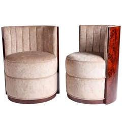 Round Barrel Chairs