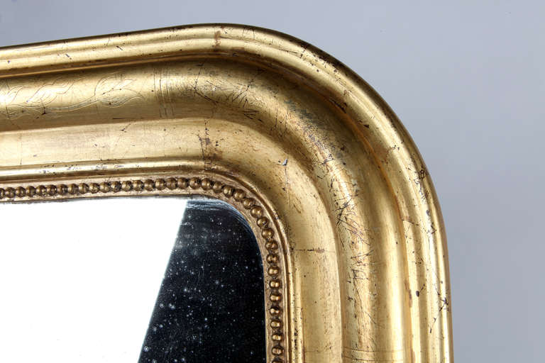 19th Century Louis Philippe Style Giltwood Mirror For Sale