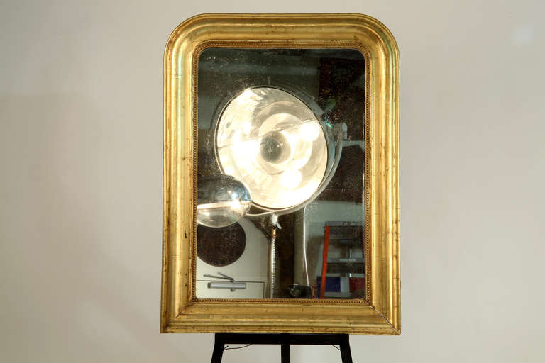 French Louis Philippe Style Giltwood Mirror For Sale