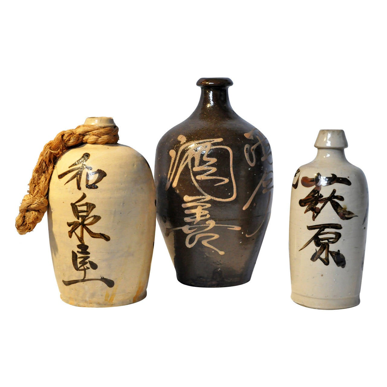 Group Of Japanese Ceramic Sake Bottles At 1stdibs