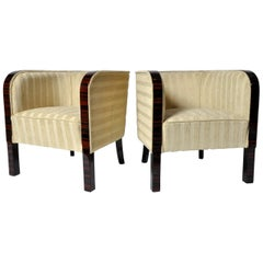 Pair of Round-Back Armchairs