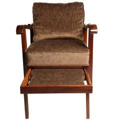 Hungarian Reclining Chair with Pullout Foot Rest