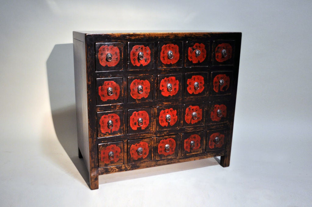 Chinese Medicine Chest with Original Labels 2