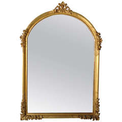 19th Century Carved Gold Leaf Mirror