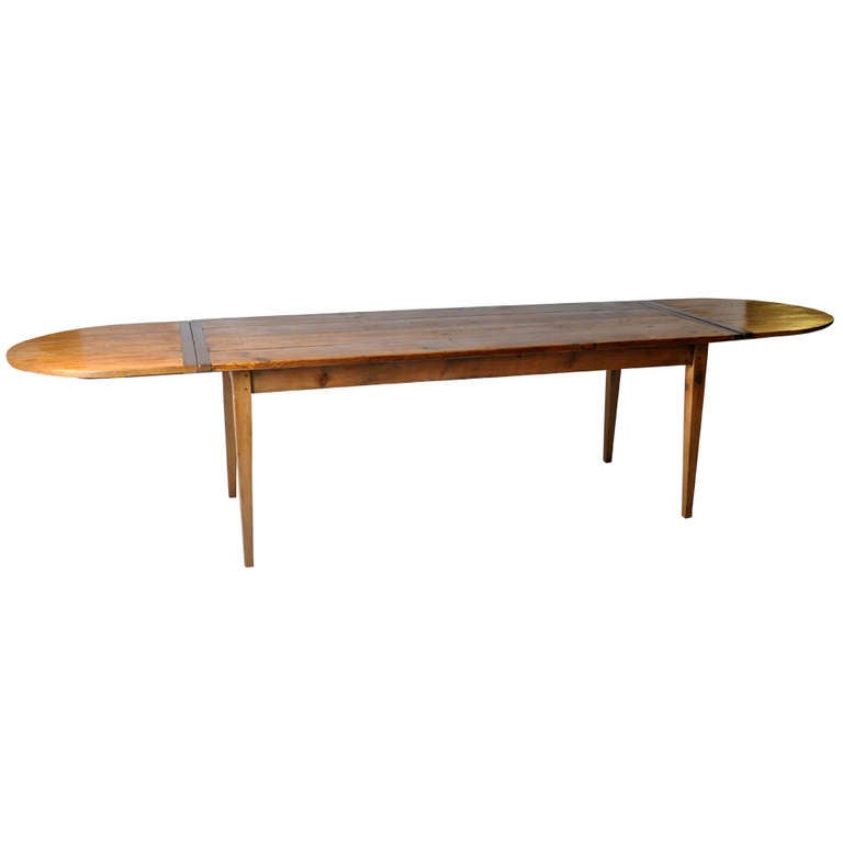 French Country DIning Table With Extensions At 1stdibs