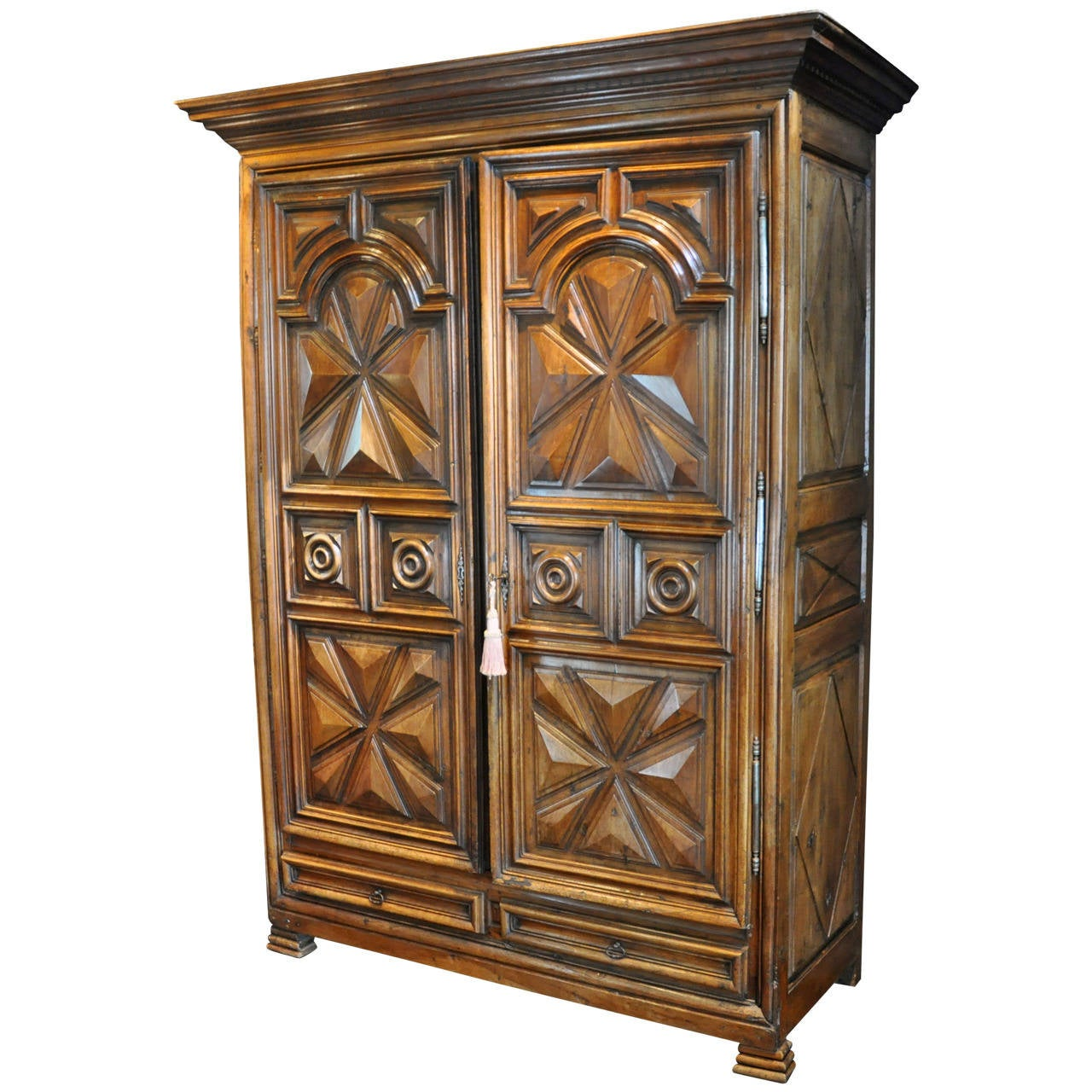 magnificent louis xiii style walnut armoire at 1stdibs. Black Bedroom Furniture Sets. Home Design Ideas