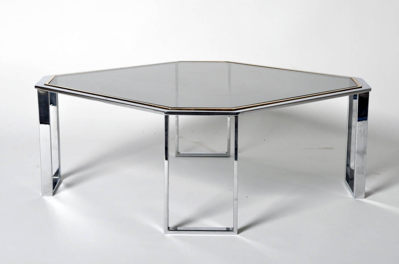Two Toned Octagonal Coffee Table For Sale At 1stdibs