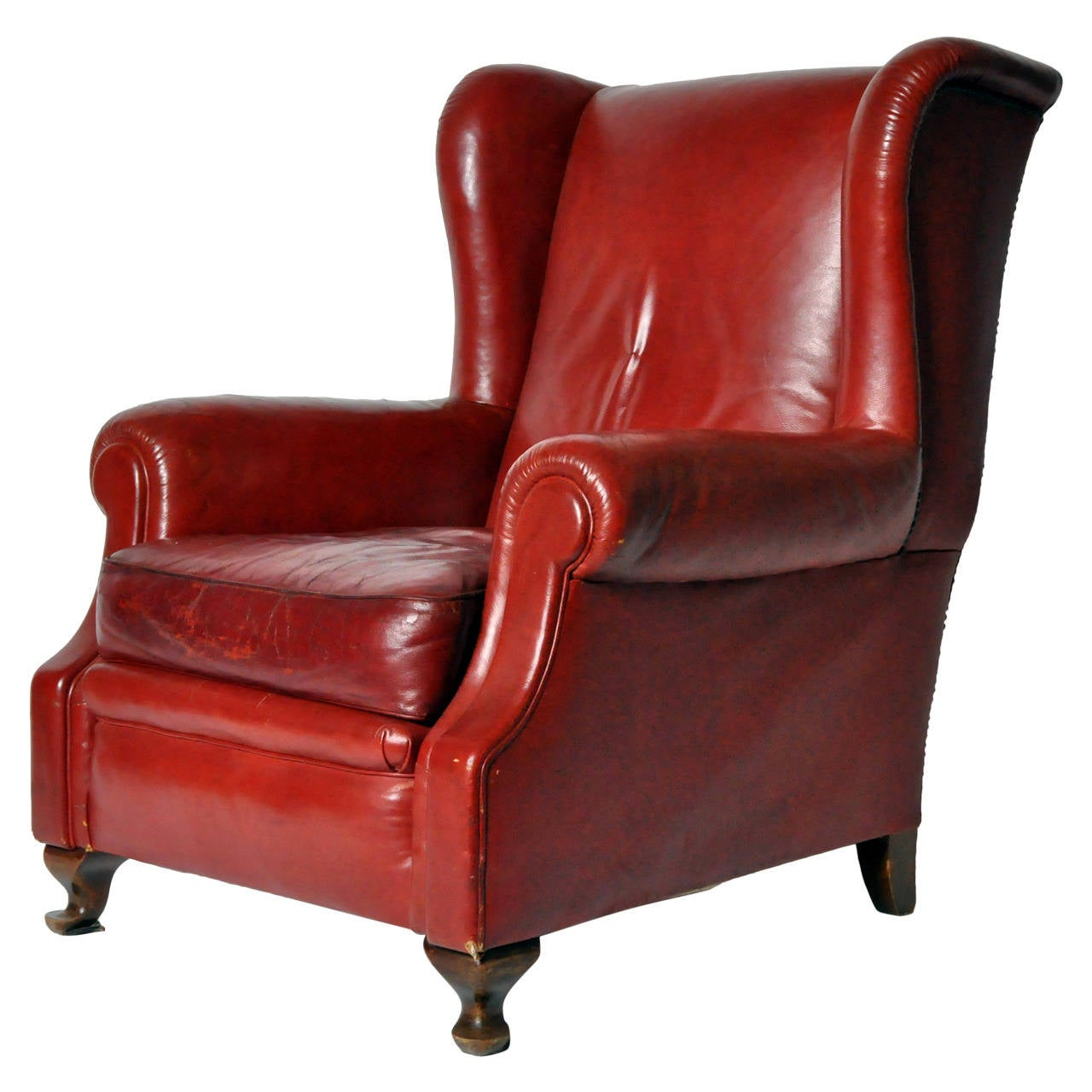 vintage leather armchairs for sale vintage wingback leather armchair for at 1stdibs 8837