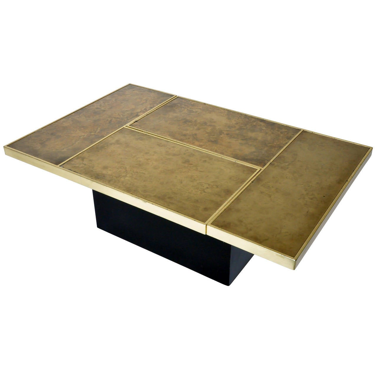 Gold Plated Iron Convertible Coffee Table At 1stdibs