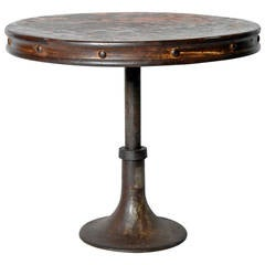 "Industrial ""Drum"" Table"