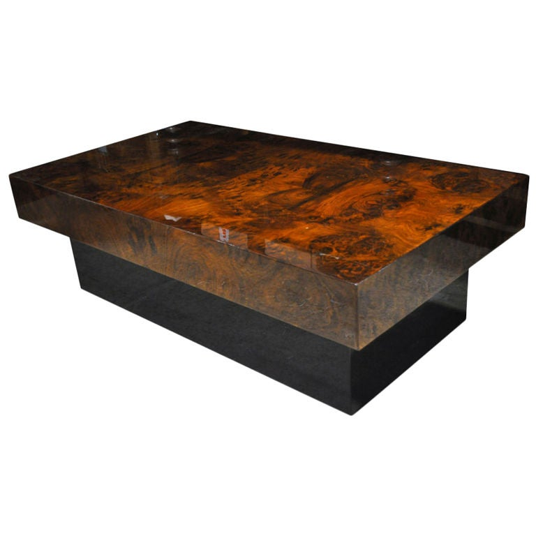 Walnut Veneer Coffee Table At 1stdibs