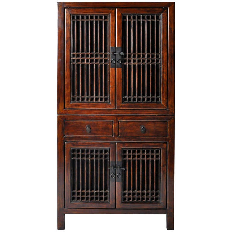 19th century cabinet with lattice doors at 1stdibs for 19th century kitchen cabinets