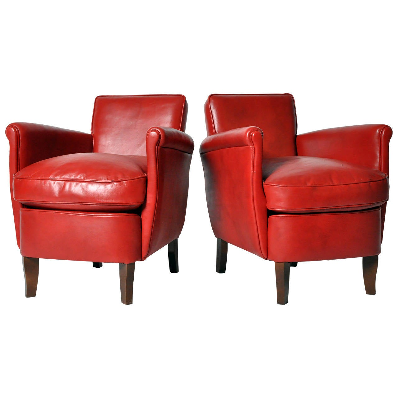 Pair Of Petite Club Chairs For Sale At 1stdibs