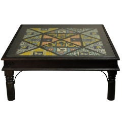 Indian Old tile Panels Turned Into Coffee Table