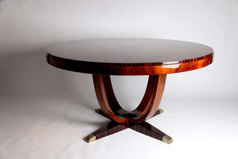 Round Art Deco Dining Table 2