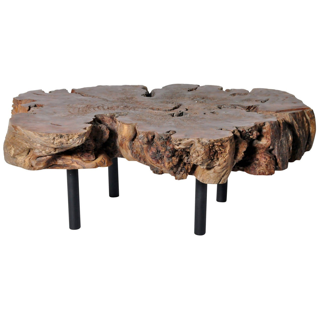 reclaimed makha stump coffee table for sale at 1stdibs