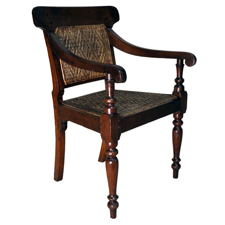 british colonial wingback chair at 1stdibs italian leather reclining chairs