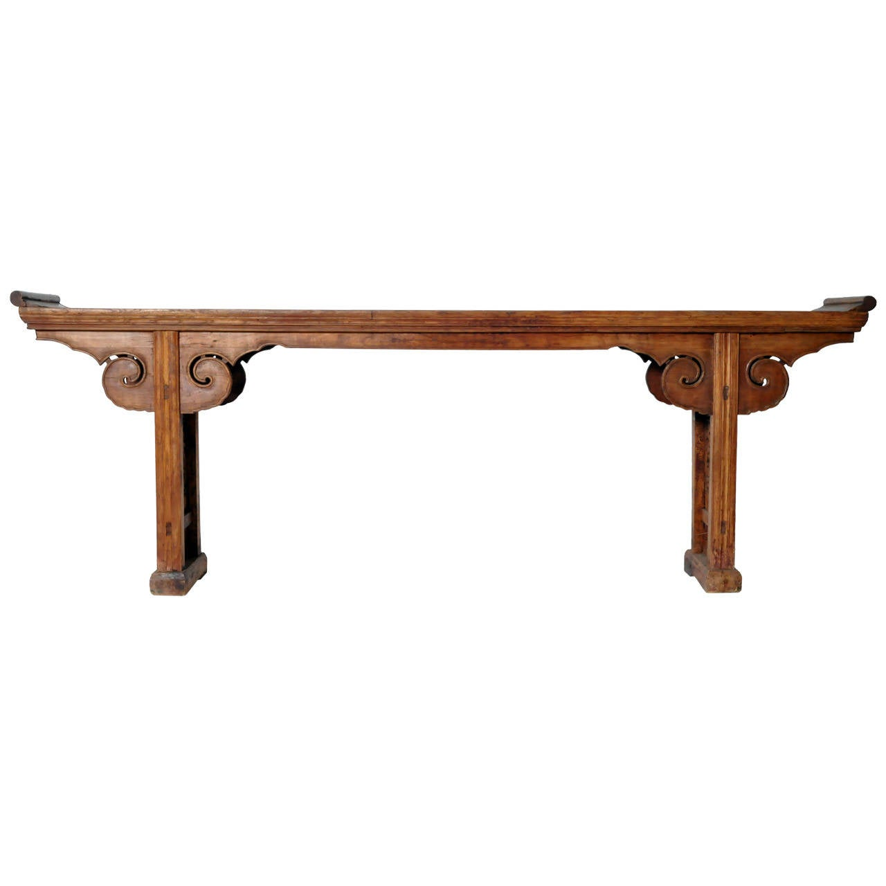 Chinese elm wood altar table at 1stdibs for Wood in chinese