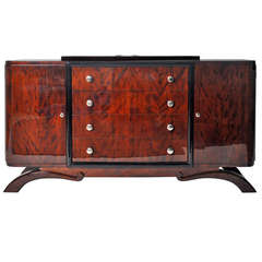 Art Deco Credenza with Four Drawers
