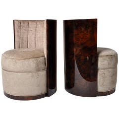 Pair of Hungarian Barrel Chairs
