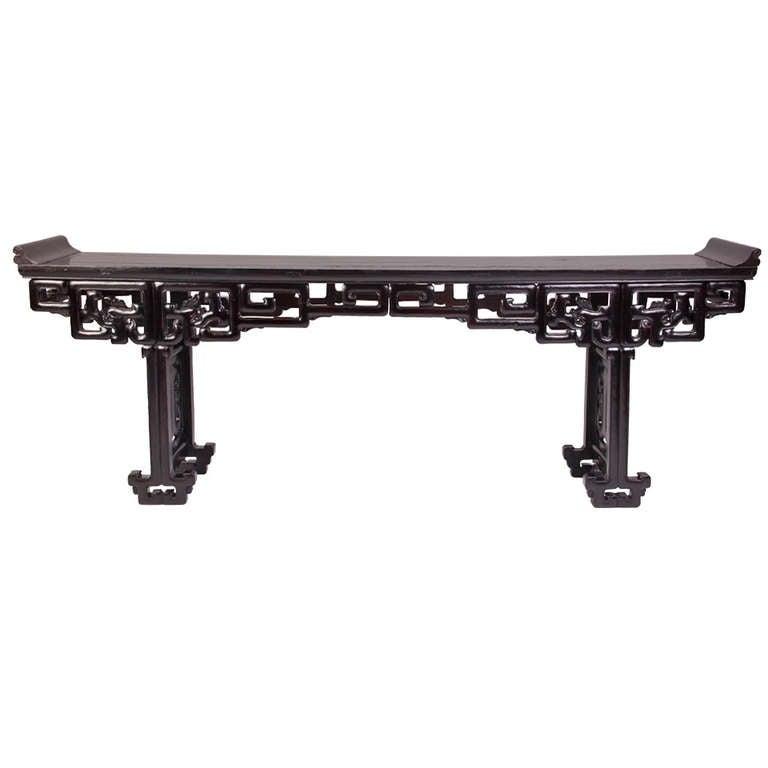 Impressive Chinese Trestle Leg Altar Table