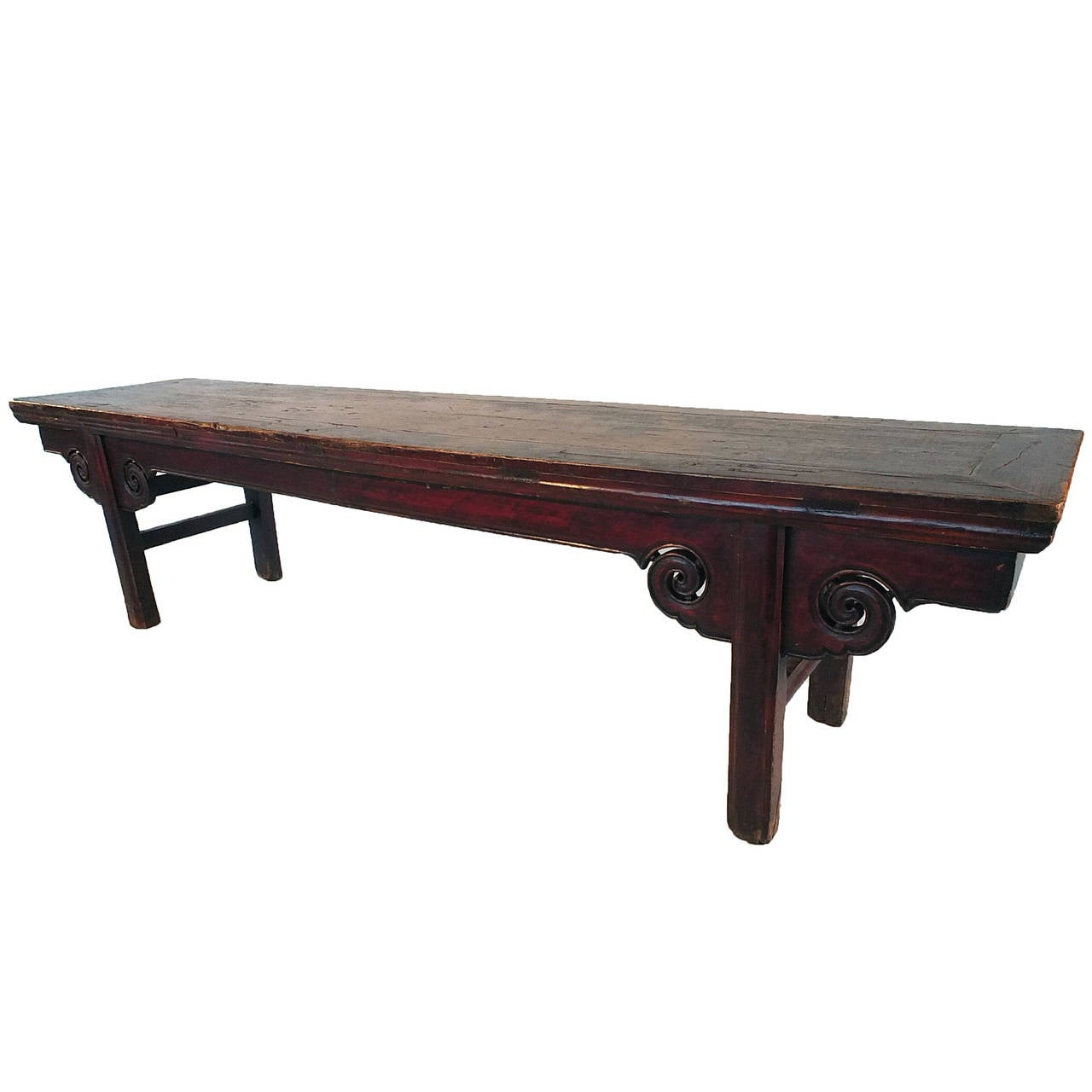 Chinese Waisted Bench At 1stdibs